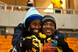 After the match at Soccer City