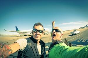 Quick selfie at Windhoek airport.