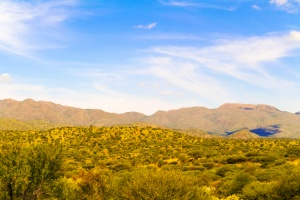 Rural area on the outskirts of Windhoek in Namibia.