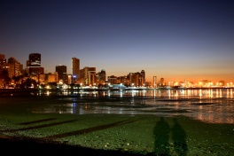 Shadowed Reflections on Durban Beachfront