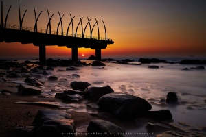 A pointy pier at Umhlanga near Durban by Pieterjan Grobler on Flickr