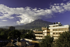 Mount Meru from Arusha, Tanzania by Phase9