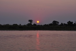 Sunset over Chobe River