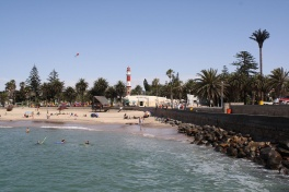 The beach at Swakopmund