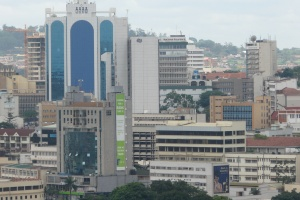 View of downtown Kampala by Mark Jordahl
