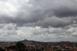 Kampala, capital of Uganda, as seen from Makerere University.