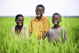 Rice Farmers children in Uganda
