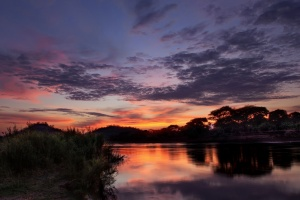 The Fiery Zambezi at Sunset by Traverse Earth on Flickr