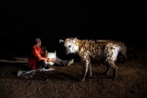 Hyena man, Harar by Mariusz Kluzniak on Flickr
