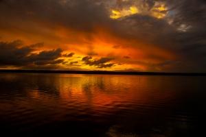 Inhambane sunset by Rod Priel