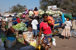 Maputo marketplace by Rosino