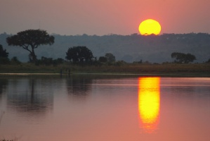 Sunrise on the Chobe River channel by Becky McCray