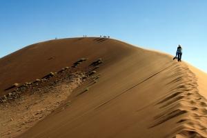 Sossusvlei Dune Walk by Dirk Van de Velde