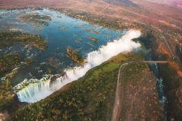 Victoria Falls above