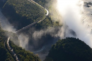 Victoria Falls bridge aerial