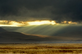 Spotlight on the Earth -  Ngorongoro Crater, Tanzania