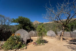 Traditional wooden village in Swaziland